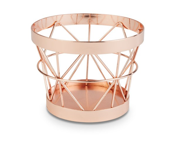 "Buffetkorb, Buffetständer, Serie ""Basket"", kupfer, konisch, 10,5/8 cm Ø, 8 cm Höhe"