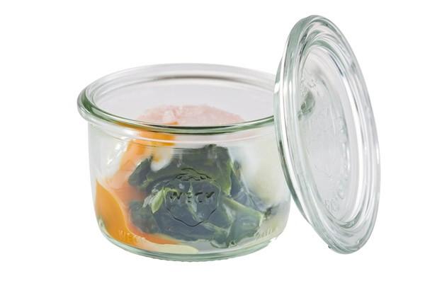 Weck-Glas mit Deckel, 12er Set Ø 9 cm, H: 6 cm