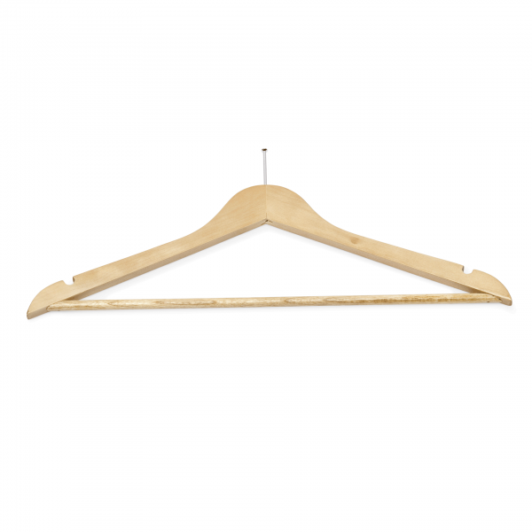 Kleiderbügel, 44,5 x 1,2 x 23 cm, Holz