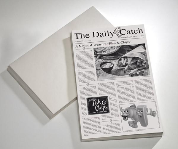 Wachspapier -SNACK HOLDER- 42 x 25 cm