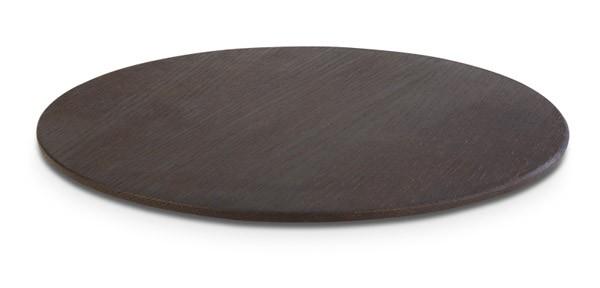 "Buffettablett, Tablett, Serie ""WOOD"", rund, dunkles Holz, 30-38,5 cm Ø wählbar"