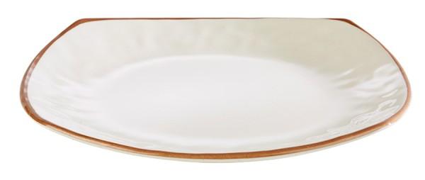 "Teller ""LAGOON"" aus Melamin, stapelbar / 24 x 24 cm, Höhe: 2,5 cm"
