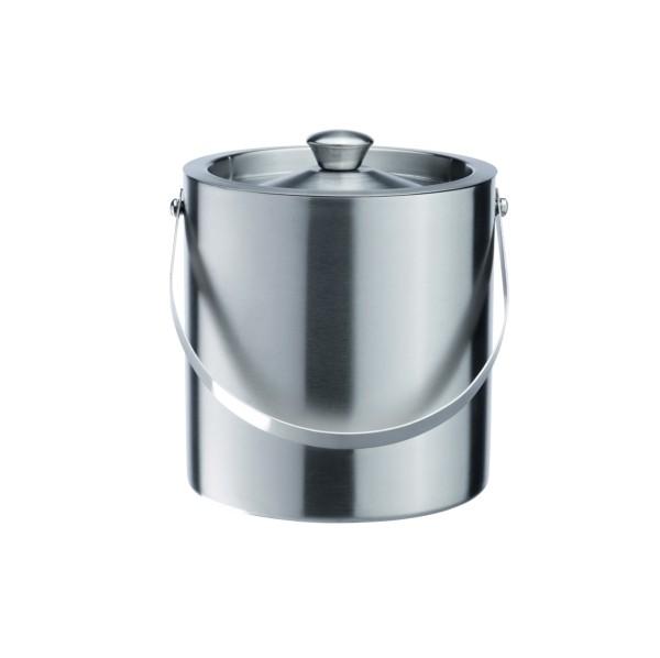 Eiseimer, Eiskübel, Chromnickelstahl, doppelwandig, 18 cm Höhe, 17,0 cm Ø und 2,5 Liter Inhalt