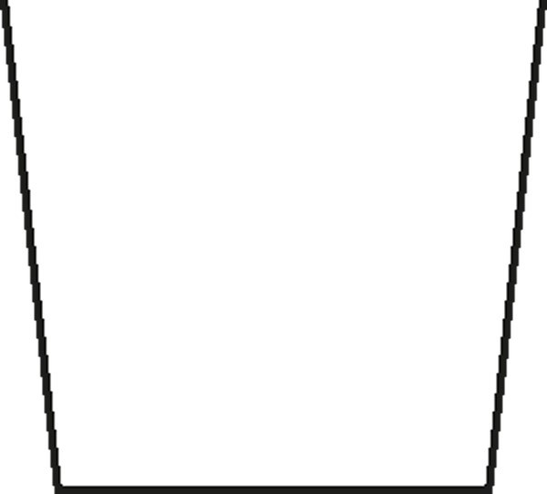 Pastetenform mit Deckel 7 x 8 cm, Länge 30 cm