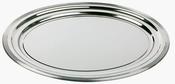 Partyplatte, oval -CLASSIC- 46 x 34 cm, Metall