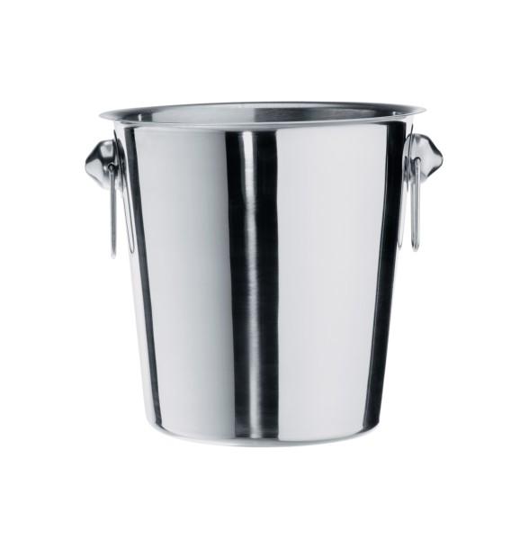 Flaschenkühler, Sektkühler, Chromnickelstahl, 19 cm Ø, 19,0 cm Höhe und 3,7 Liter Inhalt, Premium