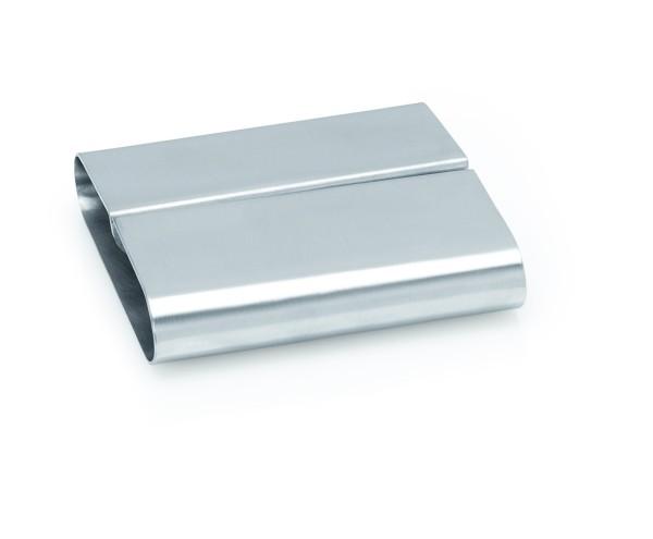 Kartenhalter aus CNS | Abm.: 8 x 7,5 x 2,2 cm