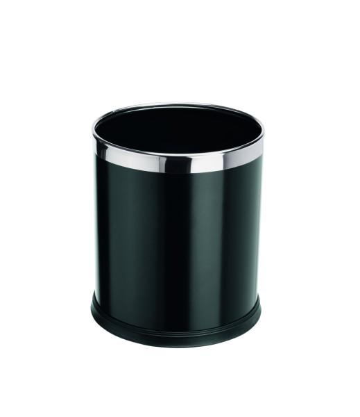 Papierkorb in schwarz oder braun | Höhe: 25,5 cm, Ø 22 cm